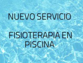 Nuevo servicio Physed FISIOTERAPIA EN PISCINA