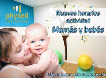Ampliación horarios clases Mamás y Bebés