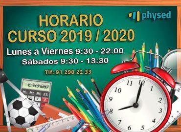 HORARIO CURSO 2019-2020